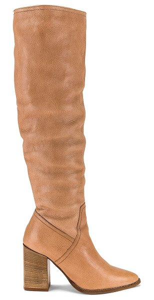 Free People riley tall slouch boot in camel