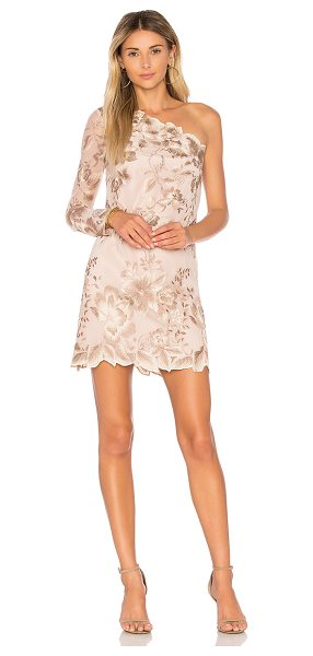 Free People Rosalie Embroidered Mini in beige - Rise to the occasion in the Rosalie Embroidered Mini by...