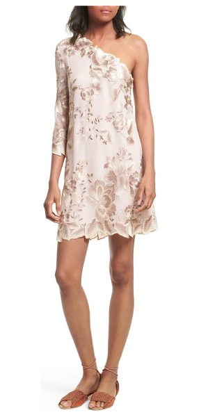 Free People rosalie embroidered minidress in nude - This feminine minidress is cut with a slim silhouette...