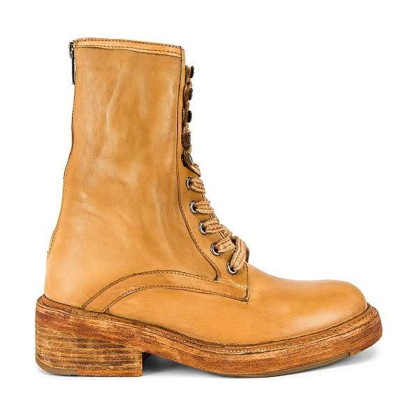Free People santa fe lace up boot in light honey