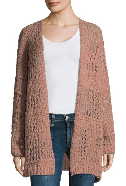Free People saturday morning cardigan in blush - Open front rochet detailed cardigan. Dropped shoulders....