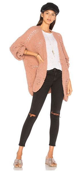 Free People Saturday Morning Cardigan in pink - 60% acrylic 25% wool 14% nylon 1% spandex. Hand wash...