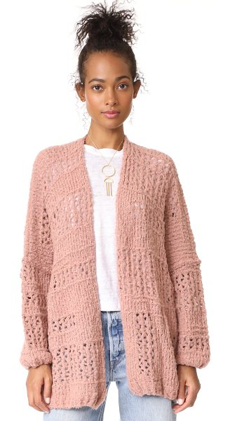 Free People saturday morning cardigan in pink - An oversized, loose-knit Free People cardigan made for...