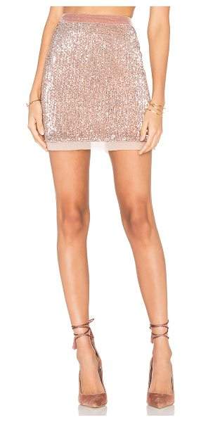 Free People Sequin Mesh Wild Child Skirt in blush - Shell: 100% polyLining: 100% rayon. Hand wash cold....