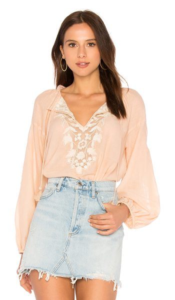Free People Shimla top in peach - Cotton blend. Hand wash cold. Front tie closure with...