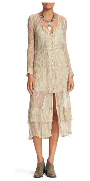 Free People shine shirtdress in beige - Finally, a gown you can wear to the movies. This...
