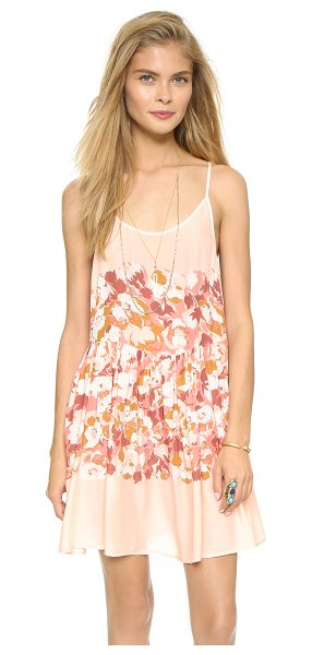 Free People Shortie slip dress in petal combo - A lattice of slender straps details the open back on...