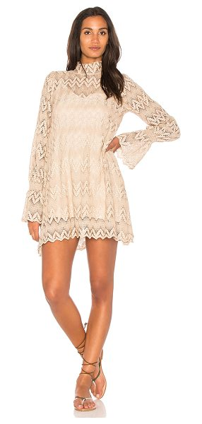 Free People Simone Mini Dress in beige - Self: 100% polyLining: 100% viscose. Fully lined....