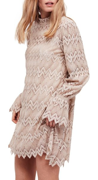 Free People simone minidress in neutral combo