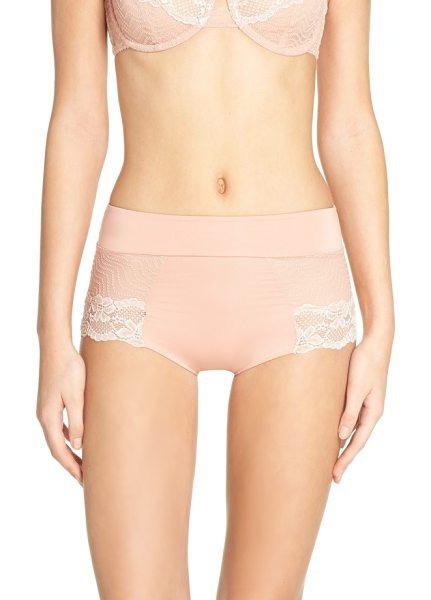 Free People intimately fp single lady boyshorts in rose - A smooth, flattering high waist creates a sleek fit in...