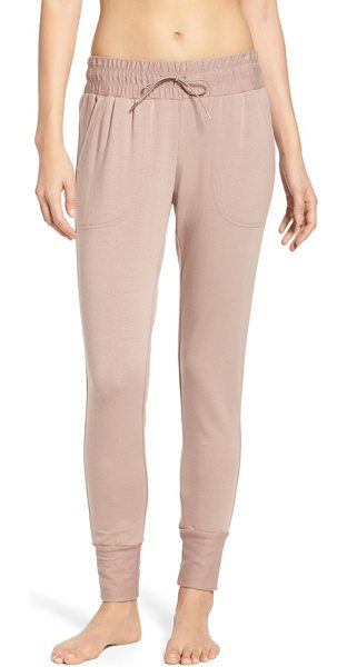 Free People fp movement skinny sweat jogger pants in dusty mauve - Sure to be a go-to for workouts and early morning coffee...