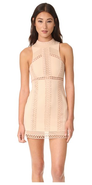 Free People sky scraper bodycon mini dress in nude - A formfitting Free People mini dress, detailed with...