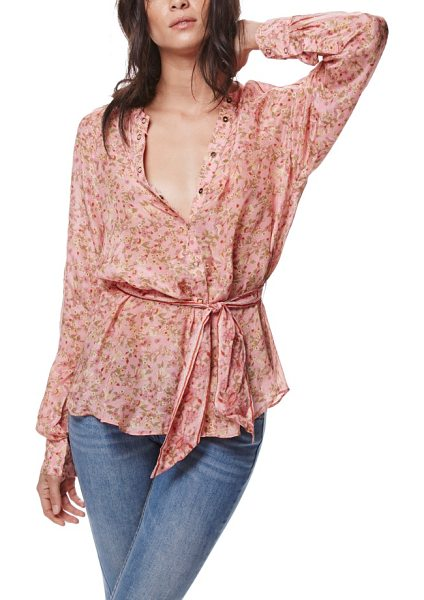Free People skyway blouse in rose