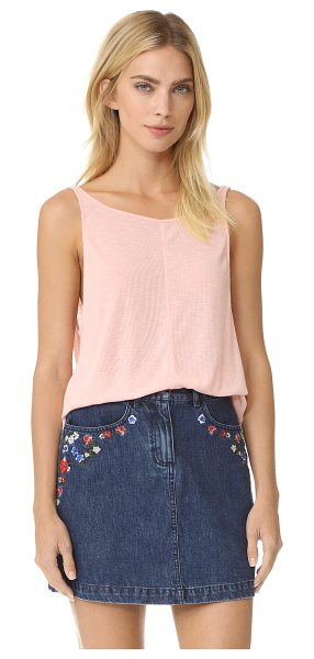 FREE PEOPLE sleek n easy tank top - Slubs add to the airy feel of this scoop back Free...