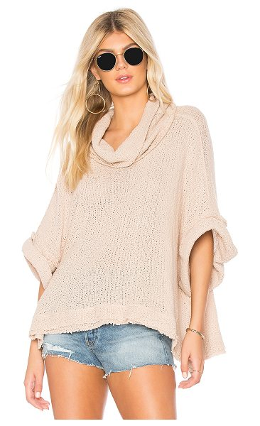 Free People So Comfy Tee in rose - 100% cotton. Hand wash cold. Knit fabric. Foldover...