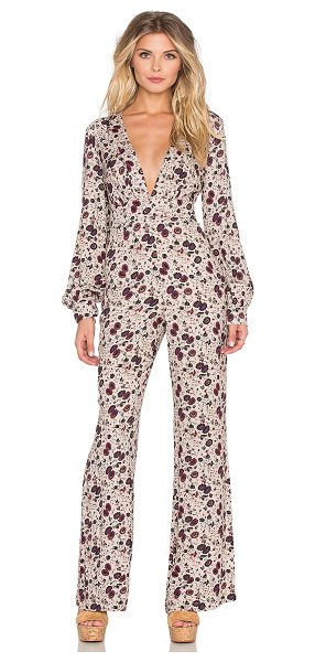 FREE PEOPLE Some like it hot jumpsuit - Rayon blend. Hidden back zipper closure. Side seam...
