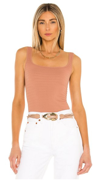 Free People square seamless one cami in iced chai