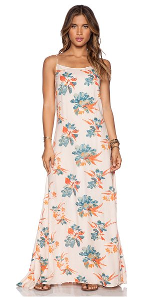 """Free People Star chasing slip in blush - 100% rayon. Shoulder strap to hem measures approx 58""""""""..."""