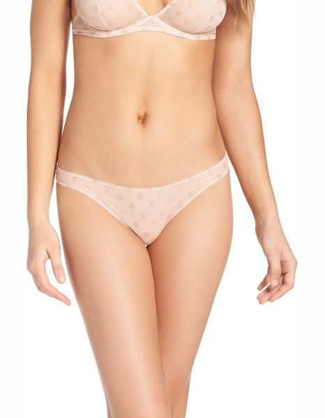 Free People intimately fp star mesh thong in pink