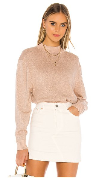 Free People starry night shimmer pullover in cream