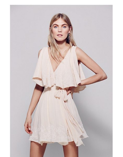 Free People Sylvia mini dress in petal - This wrap mini dress features allover bead and...