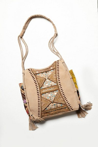FREE PEOPLE Tapestry & tassel tote - Embellished leather and tapestry statement tote....