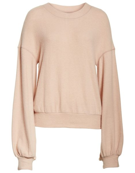 Free People tgif pullover in rose - Add some glamour to your off-duty wardrobe with this...