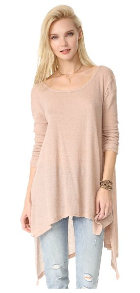 Free People the incredible tee in latte - A deep scoop neckline accentuates the relaxed drape of...