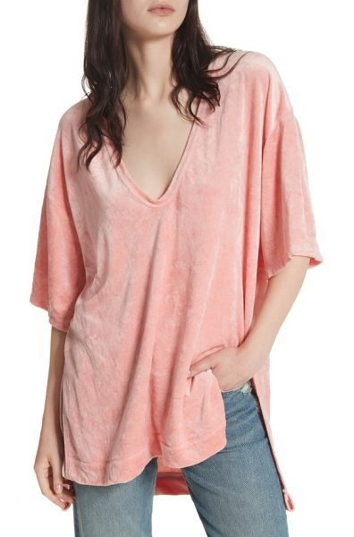 Free People the luxe tee in peach - Leisure and luxury strike a perfect balance on a boxy,...