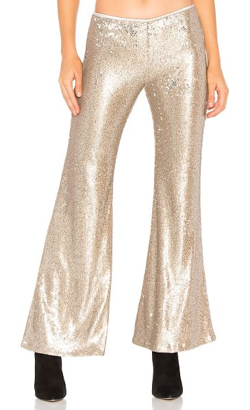 "FREE PEOPLE The Minx Sequin Flare Pant - ""100% nylon. Hand wash cold. Allover sequin embellished..."