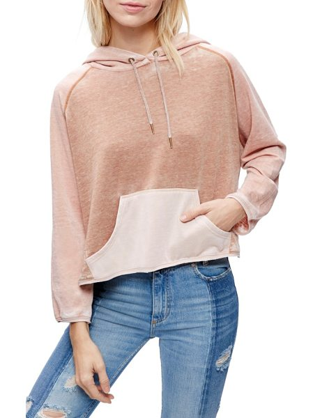 Free People tri color hoodie in neutral combo - Whether you're headed to the gym or relaxing on the...