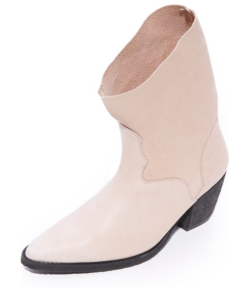 Free People twilight ankle booties in nude - Western-inspired Free People booties with a refined,...
