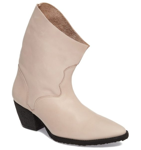 FREE PEOPLE twilight bootie - Western-inspired stitching, a slouchy shaft and moderate...