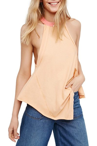 FREE PEOPLE twin peaks tank - This gracefully draped tank puts an athletic slant on a...