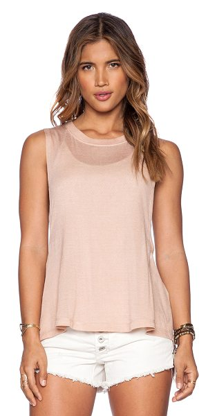 FREE PEOPLE Twist back tank in peach - Shell: 87% tencel 8% modal 5% spandexLining: 60% cotton...
