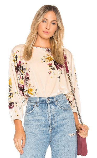 Free People Velvet Slouchy Babe Bodysuit in cream - 92% poly 8% spandex. 23820407a