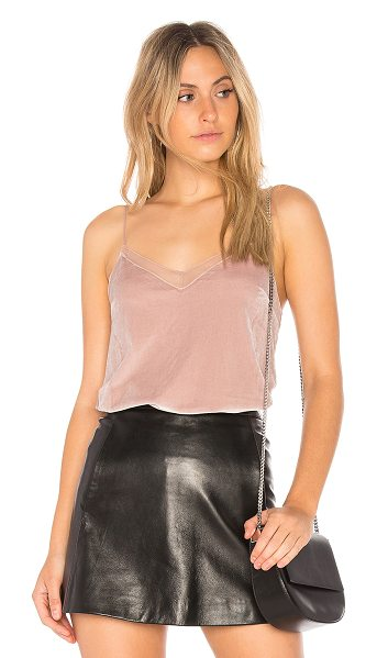Free People Velvet Solid Tank in blush - 90% poly 10% spandex. Hand wash cold. Adjustable...