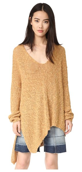 Free People vertigo pullover in sand - An oversized silhouette lends a relaxed feel to this...
