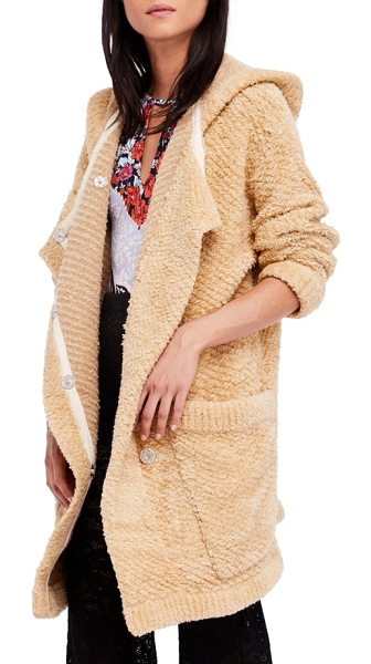 FREE PEOPLE warm wishes hooded sweater jacket - The softness of your favorite sweater and the oversized...