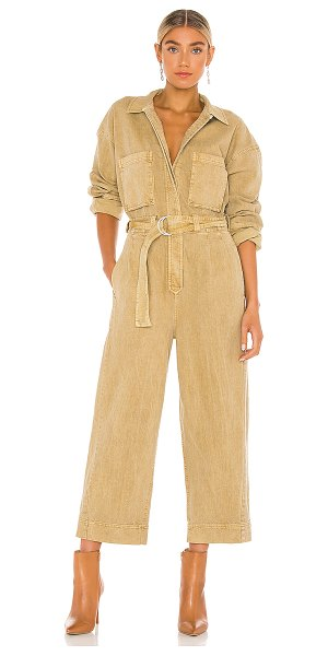 Free People wayward super slouch jumpsuit in ginger