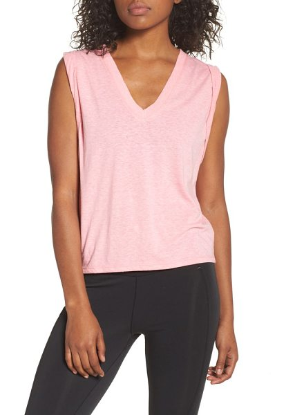 Free People wonder tank in coral - Stay cool and comfortable during your workout with an...