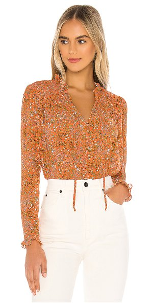 Free People x revolve lela blouse in coral combo