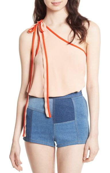 Free People you're the one tank in peach - Lightweight and incredibly soft, this one-shoulder...
