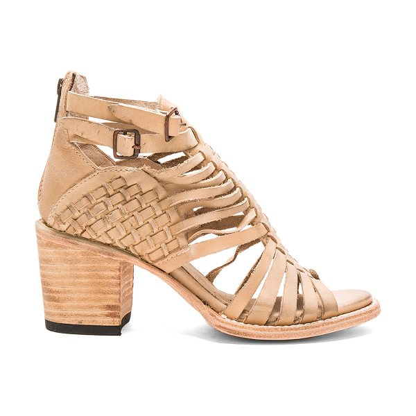 FREEBIRD BY STEVEN Todum Bootie - Leather upper and sole. Ankle straps with buckle...