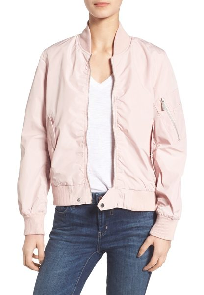 FRENCH CONNECTION bomber jacket - A zip sleeve pocket with pen-holder inset authenticates...