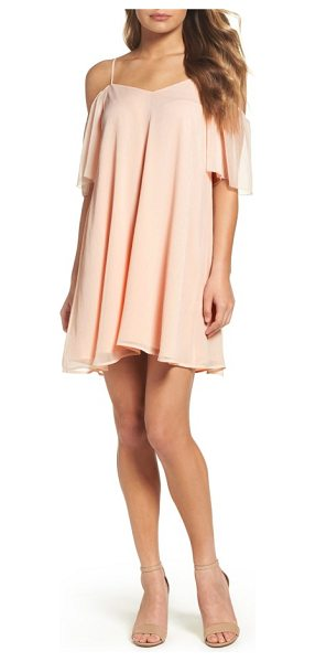 French Connection constance cold shoulder dress in pink opal - Stand out at your next big event in a classic...