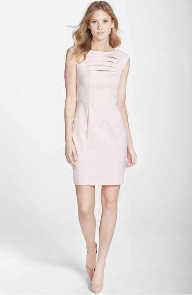 FRENCH CONNECTION estelle bar front sheath dress - Slender bar cutouts on the bodice add a bit of sass to...