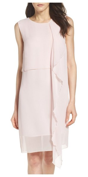 FRENCH CONNECTION james sheath dress in powder pink - A slinky sheath commands attention with fluttering...
