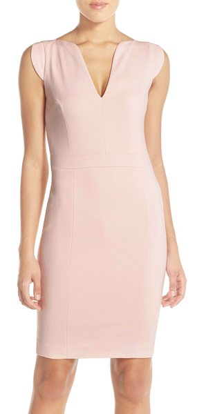 French Connection 'lolo' stretch sheath dress in capri blush - Structured seaming shapes a flattering figure-following...