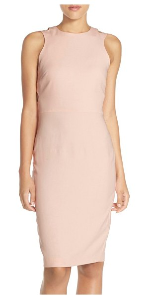 French Connection whisper light cutout midi dress in apricot spritz - A sleeveless crepe midi dress with a hint of stretch...